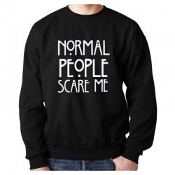 SUDADERA NORMAL PEOPLE SCARE ME NEGRA