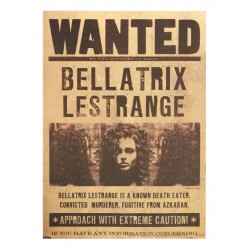 POSTER HARRY POTTER WANTED BELLATRIX LESTRANGE 43x30cm