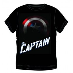 CAMISETA MARVEL CAPITAN AMERICA THE CAPTAIN NEGRA