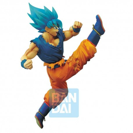 FIGURA BANPRESTO DRAGON BALL SUPER Z-BATTLE SUPER SAIYAN DIOS SON GOKU BLUE 20cm