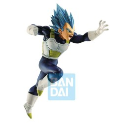 FIGURA BANPRESTO DRAGON BALL SUPER Z-BATTLE SUPER SAIYAN DIOS VEGETA BLUE 20cm