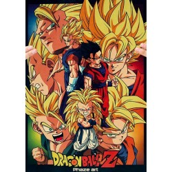 POSTER DRAGON BALL Z PHASE ART 52x38cm
