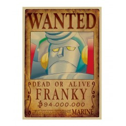POSTER ONE PIECE WANTED FRANKY 52x38cm