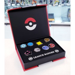 SET DE 8 PINS POKEMON INSIGNIAS DEL GIMNASIO JOHTO