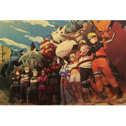 POSTER NARUTO CHARACTERS 52x38cm