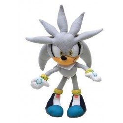 PELUCHE SONIC THE HEDGEHOG SILVER 22cm.