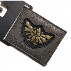CARTERA CON MONEDERO LEGEND OF ZELDA TRIFUERZA METALICO