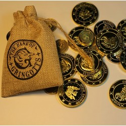 BOLSA DE MONEDAS HARRY POTTER BANK OF GRINGOTS CON 15 MONEDAS