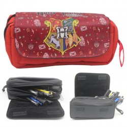 ESTUCHE DOBLE + BOLSILLO HARRY POTTER HOGWARTS