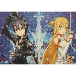 POSTER SWORD ART ONLINE KIRITO & ASUNA 52x38cm