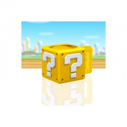 TAZA 3D SUPER MARIO QUESTION BLOCK