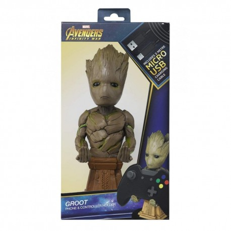 FIGURA CABLE GUY MARVEL GROOT 25cm (CON CABLE 3M Y ADAPTADORES)