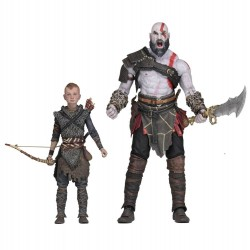 SET DE FIGURAS GOD OF WAR KRATOS & ATREUS ULTIMATE (20 y 15cm)